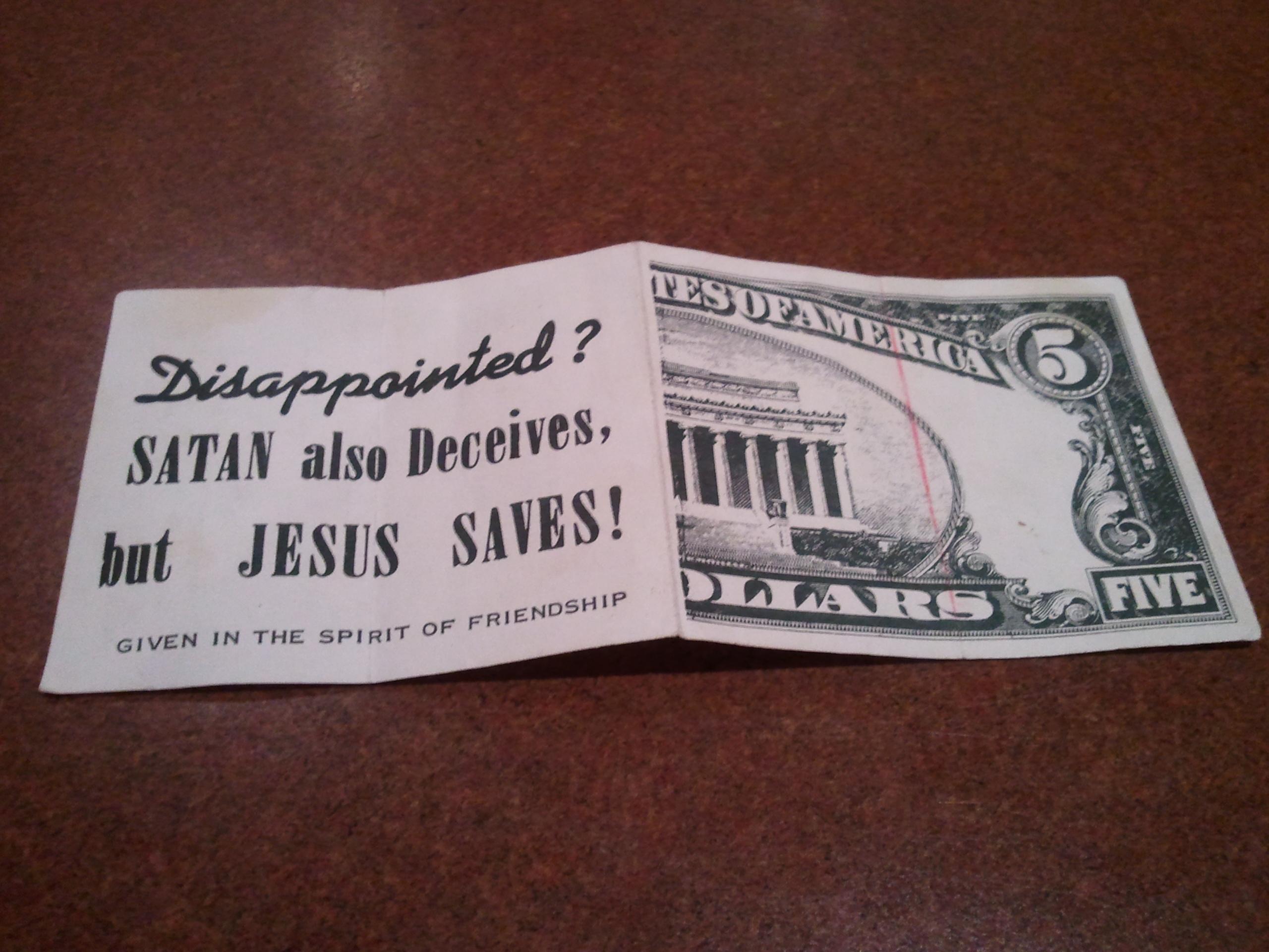 religious tract money