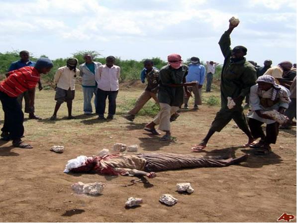 A public stoning in Somalia