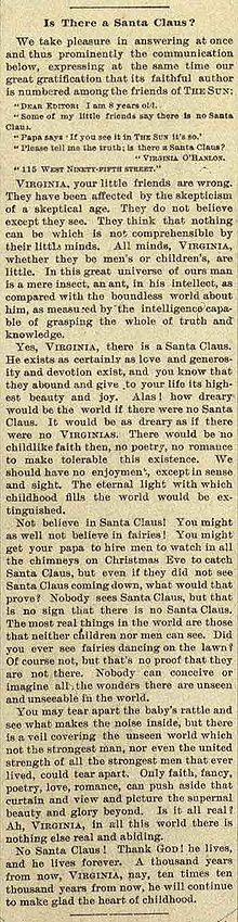 Yes Virginia, there is a Santa Claus (original column)