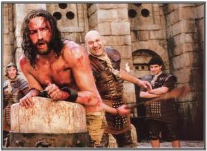 Jesus being flogged