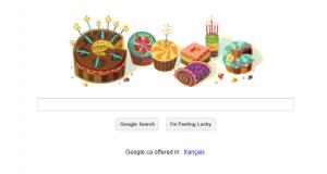 Google's Happy Birthday